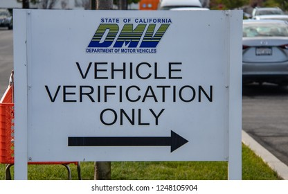 Laguna Hills, CA / USA - 12/3/2018: California DMV Location