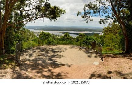 Laguna Lookout offers scenic views over Noosa in the Sunshine Coast region of Queensland, Australia.
