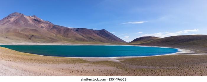 Laguna Miniques in the altiplano of north chile