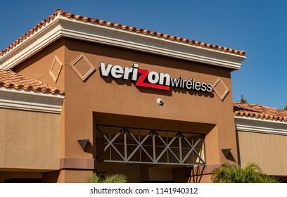 Laguna Niguel, CA / USA - 07/24/2018: Verizon Wireless Store Location