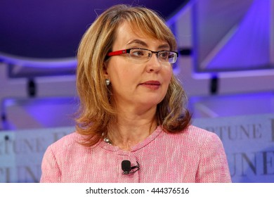 Laguna Niguel, CA, USA; October 7, 2014; Gabby Giffords, Former U.S. Representative and Co-founder, Americans for Responsible Solutions, speaks at Fortune Most Powerful Women Conference.