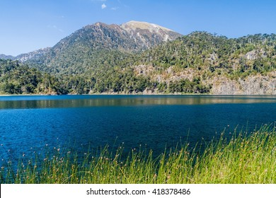 Laguna Toro lake in National Park Huerquehue, Chile
