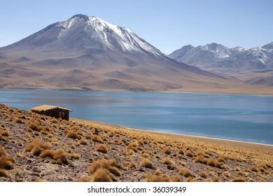 """""""lagunas miscanti y meniques"""" in Atacama desert near Andes"""