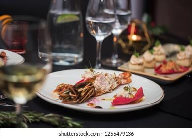 Lagustine tartare. Tasty restaurant dish