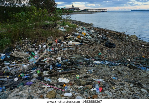 Lahad Datu,Sabah,Malaysia. Taken on 8 JJune 2019. coastal and environmental pollution. Social and global issue .