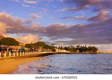 Lahaina Old Town at Sunset, Maui, Hawaii.