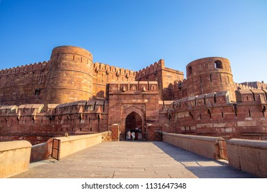 Lahore or Amar Singh Gate of Agra Fort in India