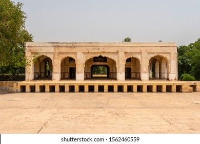 Lahore Baradari of Kamran Mirza Pavilion Picturesque Breathtaking View on a Sunny Blue Sky Day