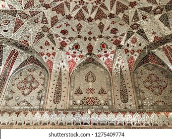 Lahore Fort, Lahore, Pakistan - 28th January 2018: Mughal Architecture - details of Lahore Fort, in ancient city of Lahore, Pakistan