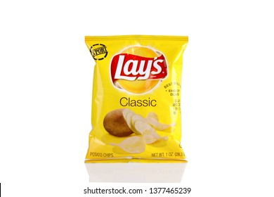 Lahore Pakistan, Apr 22 2019_ Pack Of Lays Classic.