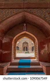 Lahore, Pakistan - April 17 2018 :Lohari Gate Mosque from the entrance, Lahore, Pakistan