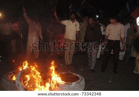 LAHORE PAKISTAN MAR 16 Supporters Jamate Islami Stock Photo (Edit