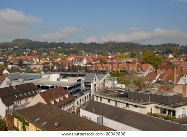 Lahr Baden Germany High Angle City Buildings Landmarks Parks