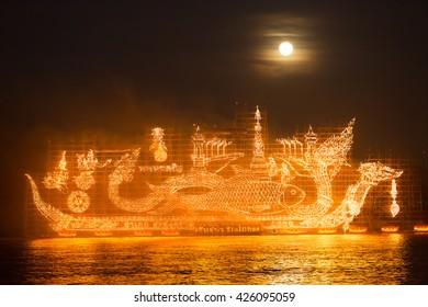 Lai Reua Fai Festival, Nakhon Panom, THAILAND, October 2015