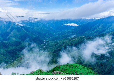 Laitlum Canyon, Meghalaya, North-East India.