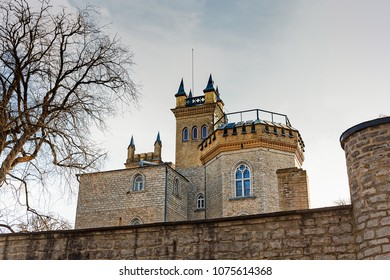 The Laitse castle in Estonia rises to the skies behind strong brick walls. The castle is not medieava, it's actually built in the 19th century in the neo-classical style.