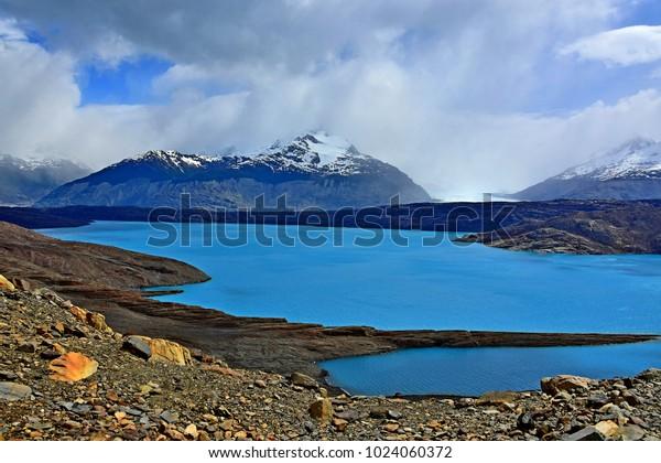 Lake above Upsala Glacier