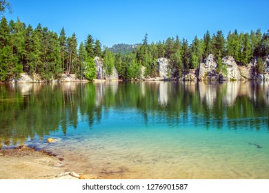 Lake in Adrspach Teplice Rocks - Czech Paradise