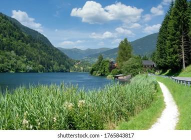 Afritzer See in Kärnten, Österreich