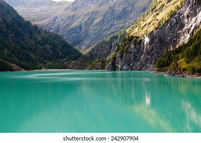 Lake in the Alps. Beautiful sunny day.