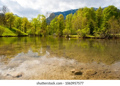 Lake in alps near Linderhof, Bavaria