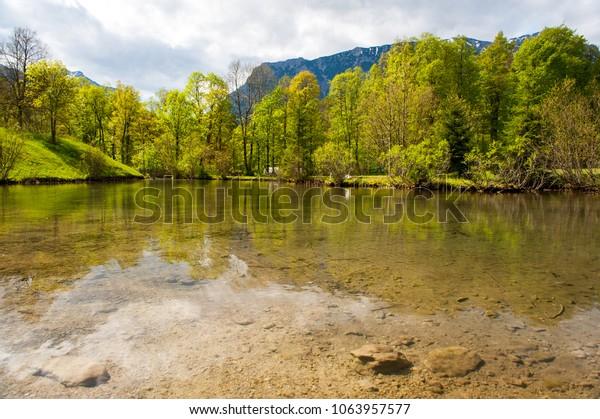 Lake in alps near Linderhof, Bavaria