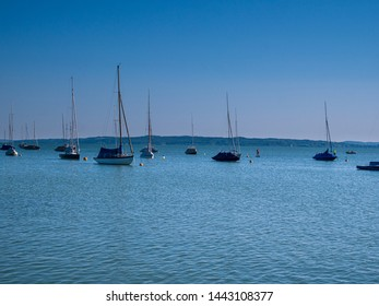 Lake Ammersee at Bavaria with Nature Summertime