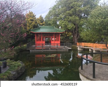 Lake and ancient Chinese house
