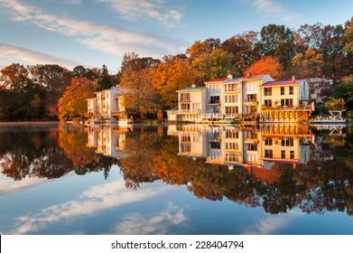 Lake Anne Reston Virginia Luxury Lakefront Townhomes Fairfax County