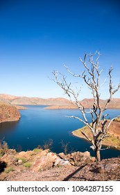 Lake Argyle is Western Australia's largest and Australia's second largest freshwater man-made reservoir by volume. The reservoir is part of  Ord River Irrigation Scheme and is located near Kununurra