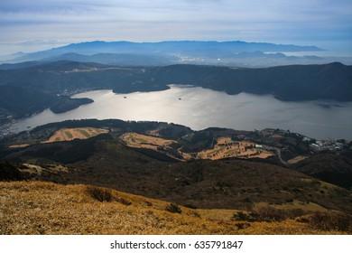 Lake Ashi - view from Hakone Mt. Komagatake, Japan
