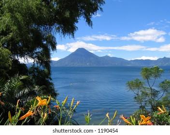 lake atitlan from panajachel
