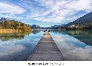 Lake in Austria, Fuschlsee, Salzkammergut
