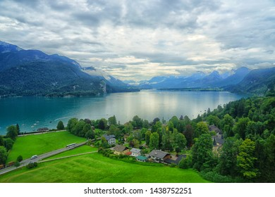 Lake in Austria from high viewpoint