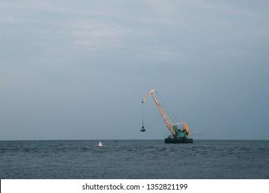 lake baikal crane loader