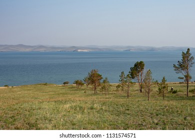 Lake Baikal in the summer, Siberia, Russia. View of Olkhon Island.