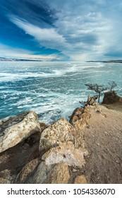 Lake Baikal in winter