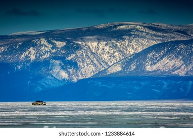 Lake Baikal in the winter. Siberia, Russia