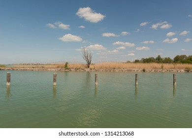 Lake Balaton in Hungary on a summer day