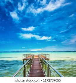Lake Balaton with pier