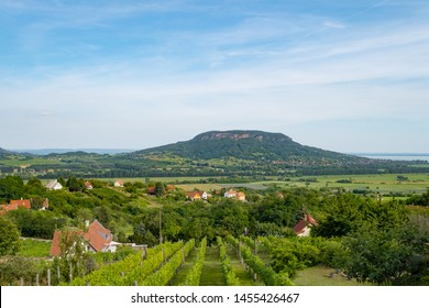 Lake Balaton scenery with Badacsony Hill, the center of Badacsony Wine Region and the most iconic volcanic monadnock of the Balaton Highlands