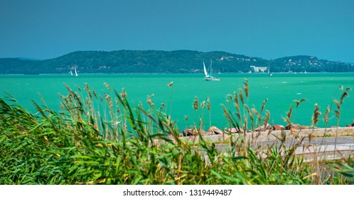 Lake Balaton in summer