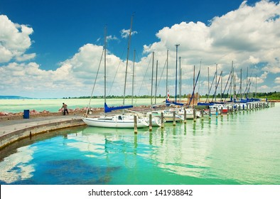 Lake balaton at summer, Hungary