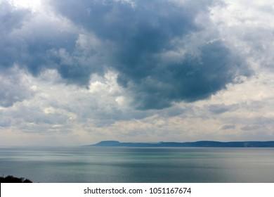 Lake Balaton view from Balatonfoldvar, Hungary.