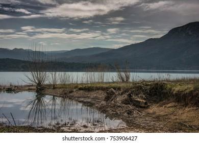 Lake barasona in Graus in the Spanish Pyrenees