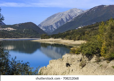 Lake Barrea in the National Park of Abruzzo in Italy