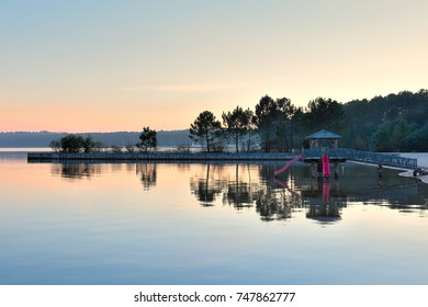 lake biscarrosse in the landes - south west of France