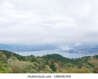 Lake Biwa seen from the observation deck