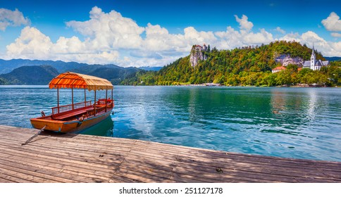 Lake Bled (Blejsko jezero) is a glacial lake in the Julian Alps in northwestern Slovenia, where it adjoins the town of Bled and is overlooked by Bled Castle.