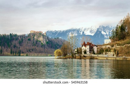 Lake Bled with castle,Slovenia